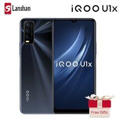 Оригинальный vivo IQOO U1x мобильный телефон 6 ГБ 128 Snapdragon 662 5000 мА/ч, LargeBattery 18 Вт быстрой зарядки 13MP тройной камеры мобильного телефона