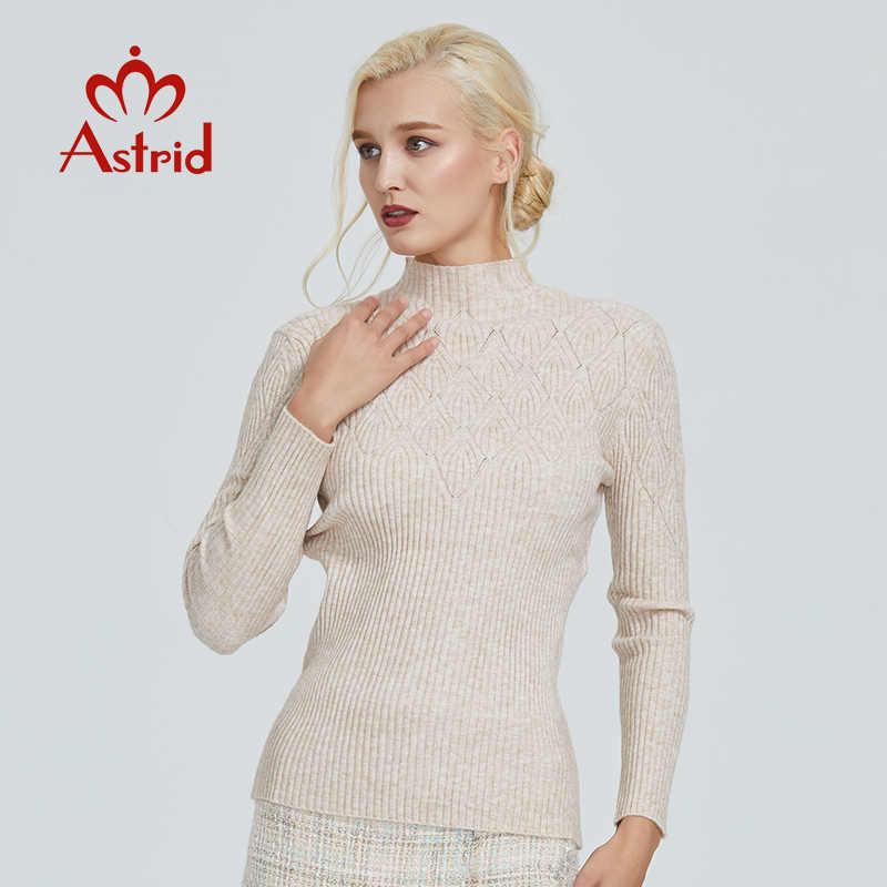 Astrid 2019 Herfst Nieuwe Aankomst Vrouwen Trui Top Beige Plaid Slim Fashion Hoge Kwaliteit Truien Elegante Crop Trui MS-007