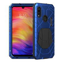 for Xiaomi redmi note 7 Case, Aluminum metal+silicon back Cover for Xiaomi redmi note 7 pro Coque