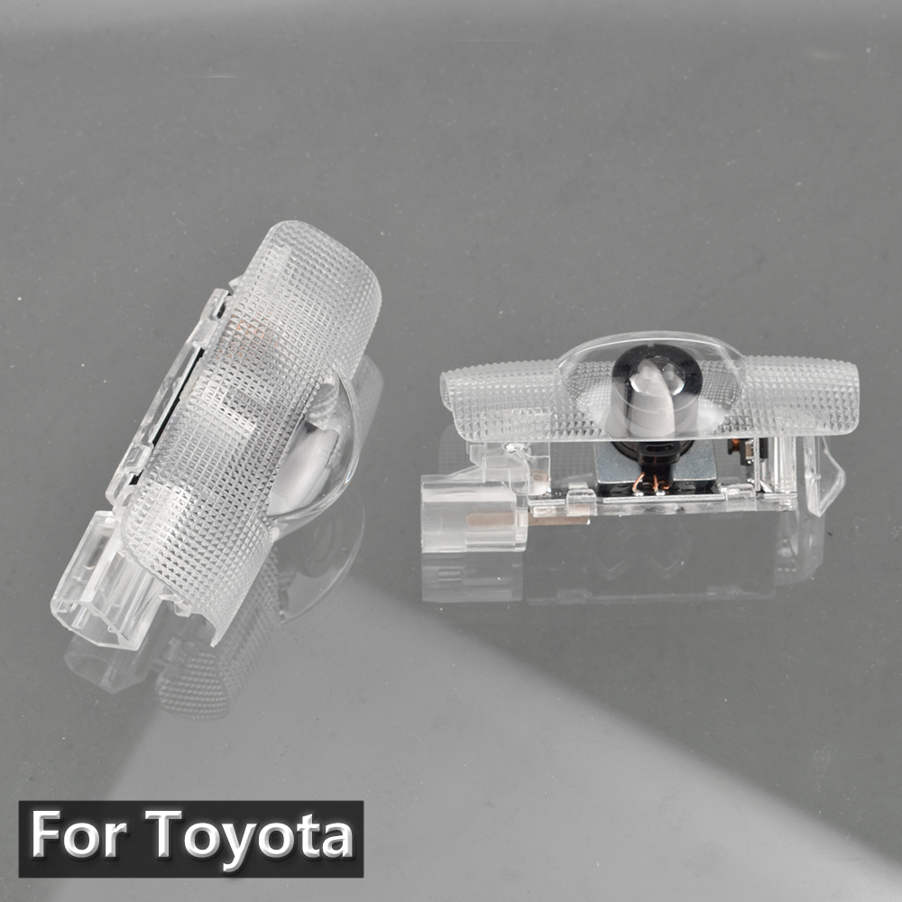 2Pcs Car Logo LED Door Light Laser Projector Lamp For Toyota Camry 40 50 70 V40 V50 V70 GT86 EZ  Corolla E140 140 4 Runner N280