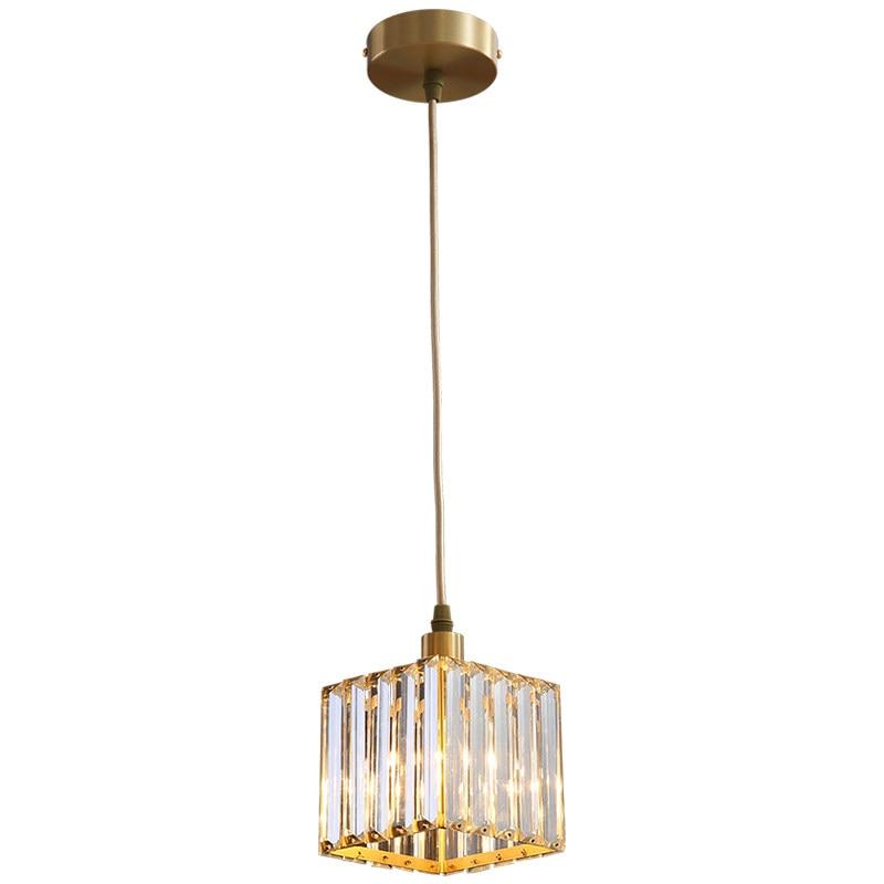 Nordic Kupfer Esszimmer Anhänger Licht Schlafzimmer Loft Stil Bar Mini Suspension Leuchte Licht Leuchte Mit E27 12W LED birne