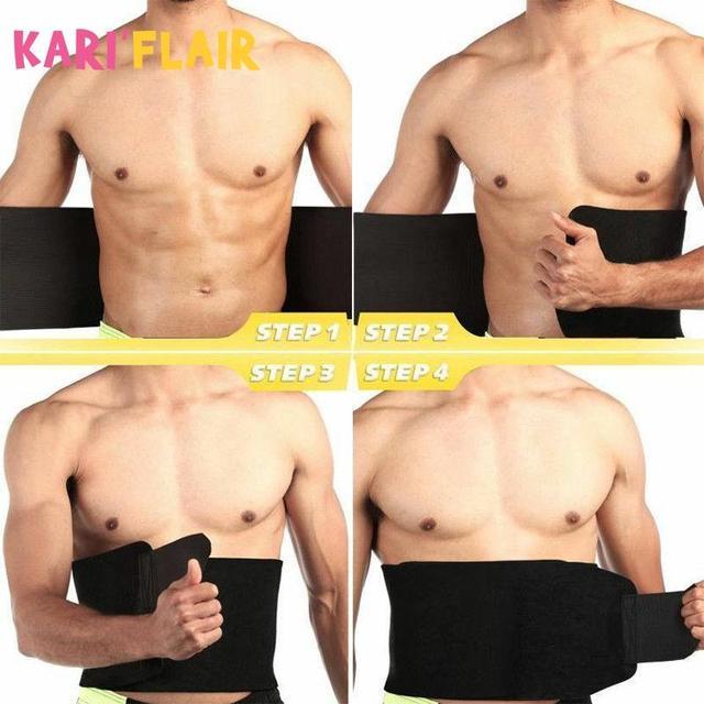 Waist Trainer Belt Women Men Body Shaper Suit Sweat Belt Premium Waist Trimmer Corset Shapewear Slimming Vest Underbust