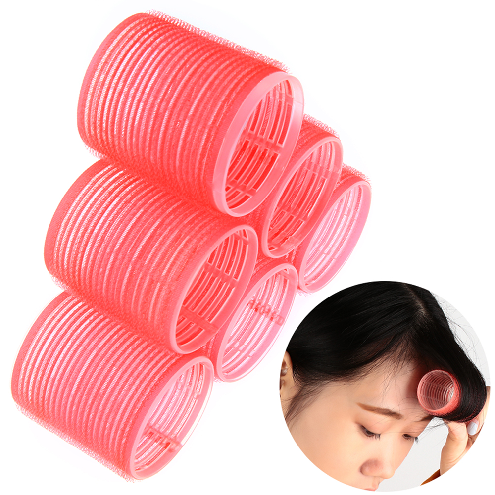 Random Color2/4/6Pcs/Set Hair Curling Styling DIY Spiral Curlers Multi Size  Self Grip Hair Rollers Cling No Heat No Clip