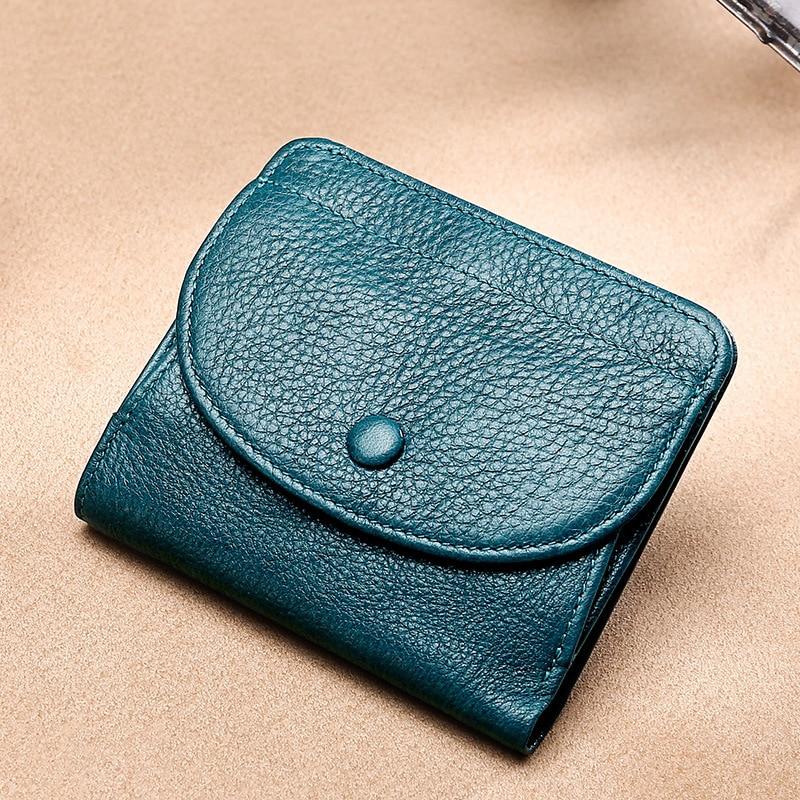 Genuine Leather Women Wallets Coin Purse Short Female Money Bag High Quality Mini Walet Small Card Holder Carteira Feminina