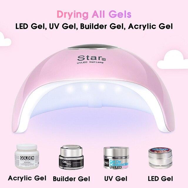 Star 6 Nail Dryer UV nails lamp for manicure dry nail drying Gel ice polish lamp 12 LED auto sensor 30s 60s 90s nail art tools