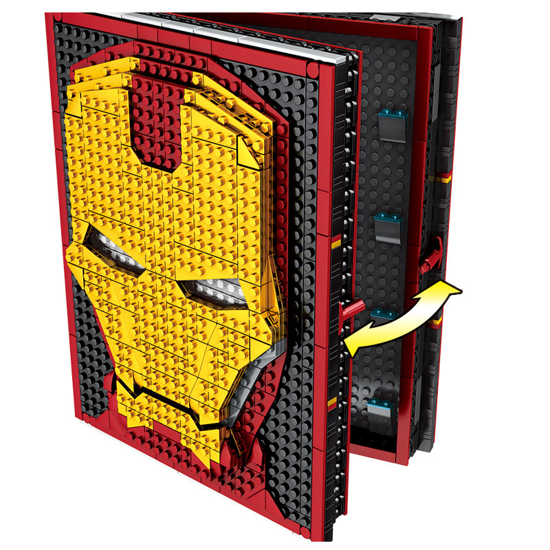 2019 NEW Sy1361 Compatible  Avengers Iron Man Memorial Handbook Collection Blocks Book Assembly Model Gifts For Children