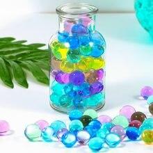 500 pçs/lote pérola em forma de cristal contas de água do solo lama crescer bolas geléia mágica casamento decoração para casa hidrogel contas de água