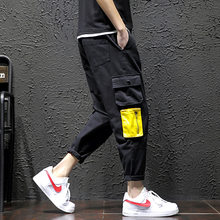 2019 Autumn New Style Large Size Japanese-style Black Wall Workwear Casual Capri Pants Trousers 1040(China)