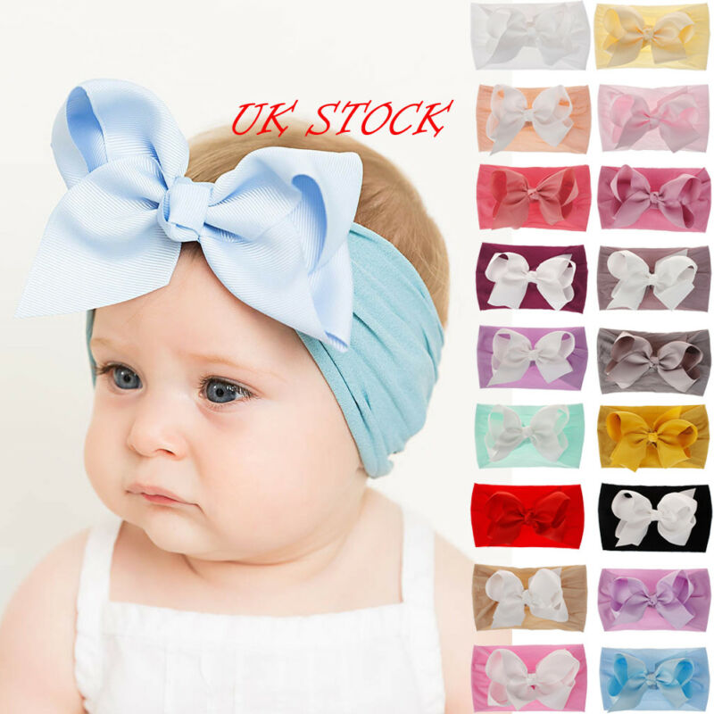 New Colorful Baby Bow Hairband Newborn Toddler Headband Ribbon Elastic Baby Headdress Kids Hair Band Girl Bow Knot
