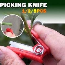 Garden Pruner Fruit Picking Device Multifunction Thumb Knife Safe Fruit  Tool Cutting  Rings Finger Protector 5/2/1pcs