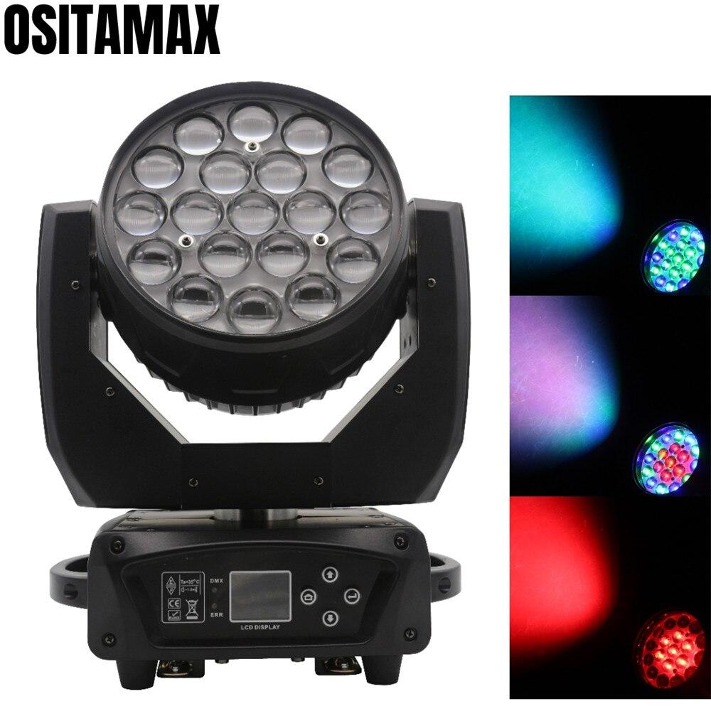 LED Strahl Zoom Moving Head Licht Waschen 19x15w RGBW 4IN1 DJ Projektor DMX512 Bühne Lichter für Party disco Club-in Bühnen-Lichteffekt aus Licht & Beleuchtung bei
