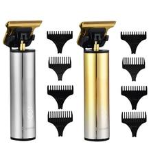 Scissor Razor Hair-Trimmer Men Barber Digital Oil-Head Cordless Shaver 0mm T9 Close-Cutting