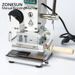 Image 3 - ZONESUN ZS 100 이중 목적 뜨거운 호 일 스탬핑 기계 PVC 카드 가죽 및 종이 스탬핑 기계에 대 한 수동 청동 기계