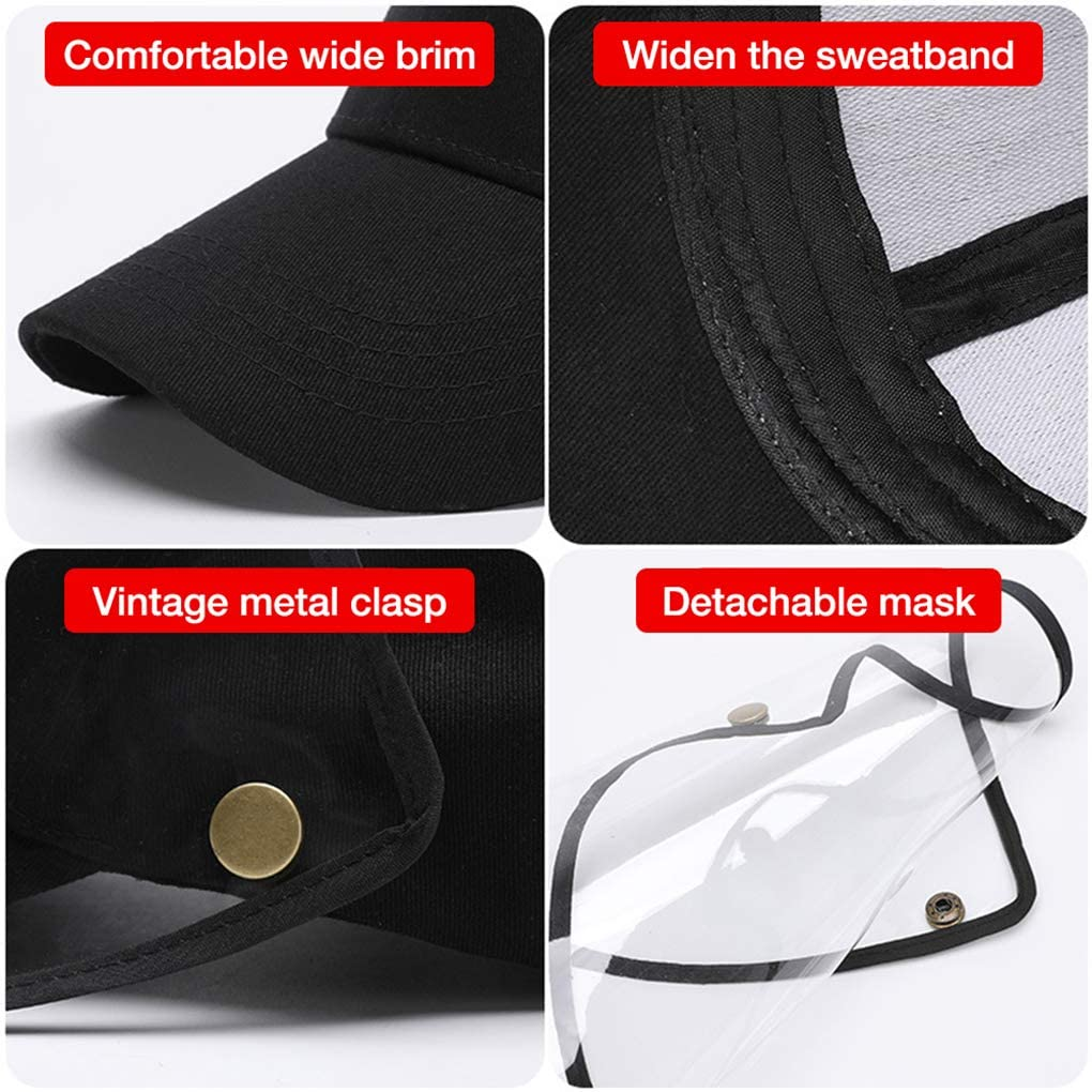 1pc/2pcs/4pcs Clear Face Cover and Face Shield Protective Hats for Full Face Protection 4