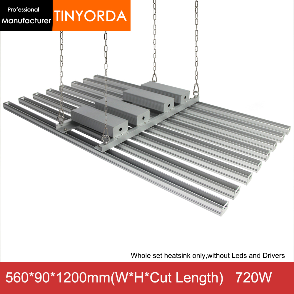 Tinyorda TGL3526B  8 In 1  (1.2M Length) 720W Led Grow Light Housing Indoor Planting Light Profile [Professional Manufacturer]