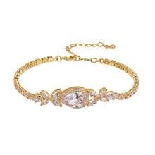 WEIMANJINGDIAN – Bracelets en zircon cubique en forme de poire, nouvel arrivage, grande taille, cristal CZ, livraison DHL / UPS gratuite, commande 150 $ +