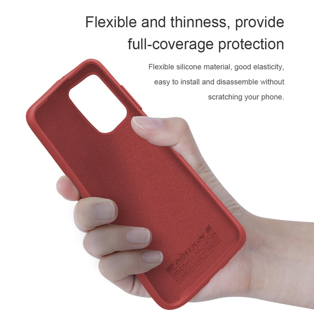 NILLKIN Liquid Silicone Case For Samsung Galaxy S20 /S20 Plus /S20 Ultra Anti-fingerprint soft Back cover shockproof case