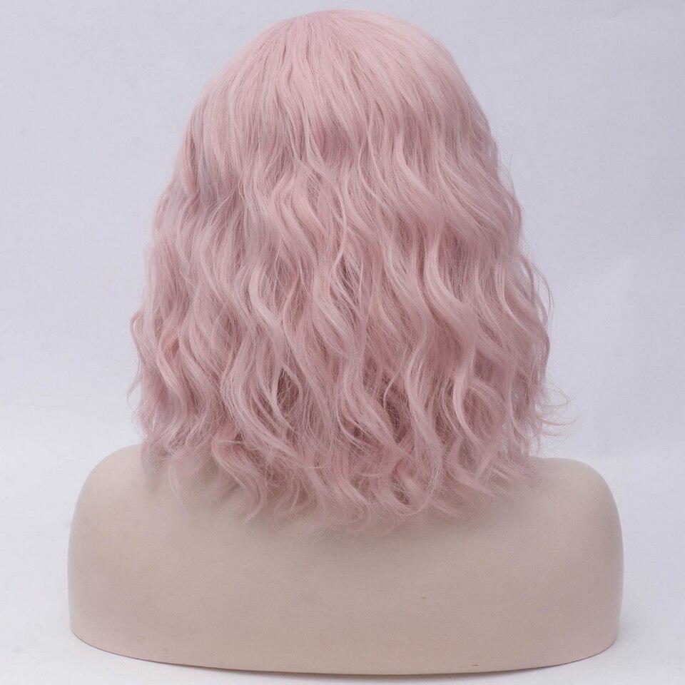 Yiyaobess 16 polegada curto ondulado peruca de