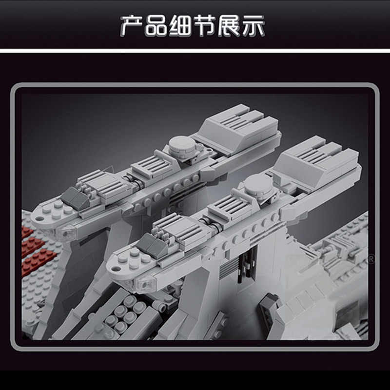 05077 6685Pcs Star piani serie UCS repubblica Star Destroyer Cruiser ST04 Building Blocks mattoni giocattoli con MOC-0694