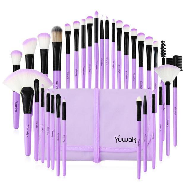 Kaizm 5 Colors 32Pcs Makeup Brush Foundation Eye Shadows Powder Brushes with Bag pincel maquiagem Brushes Kits Cosmetic Brushes