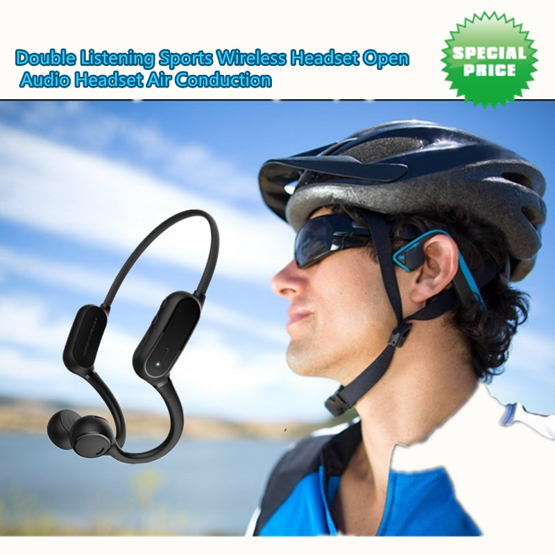 Double Listening Sports Wireless Headset Open Audio Headset Directional Audio Headset Air Conduction Headphone