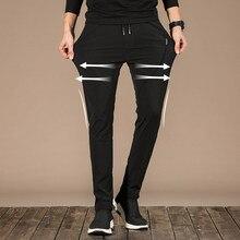 Antlconx – pantalon droit Slim pour homme, léger, taille élastique, nouvelle marque, printemps été