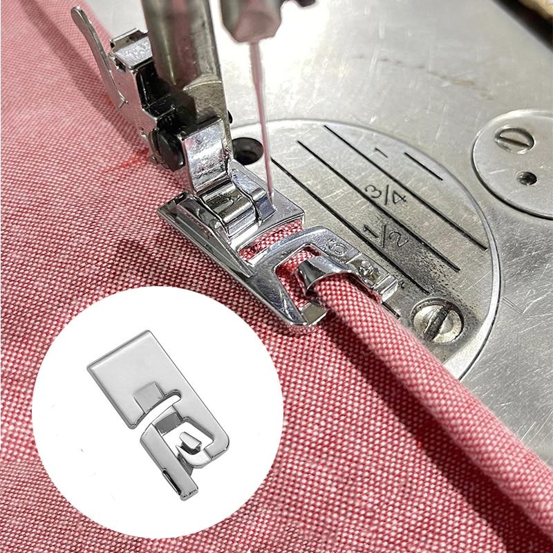 1 шт 6-25 мм Внутренние детали швейной машины лапку для ног с засученными краями средства ухода за кожей стоп для Брат швейной АКСЕССУАРЫ