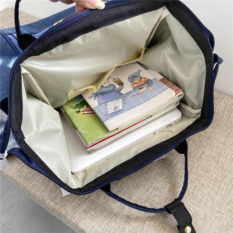Mochila de Mickey mouse de Disney, mochila multifunción de gran capacidad, bolsa de pañales impermeable para hombres y mujeres, bolso de hombro, bolsa de viaje