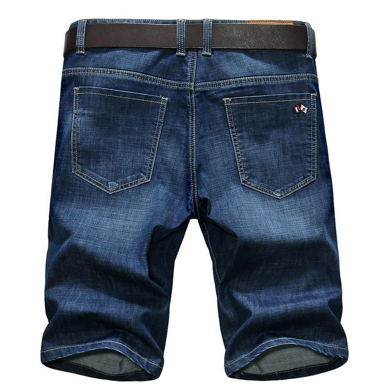 2018 New Style Men 2018 New Style Summer Jeans Men's Pure Cotton Large Size Loose-Fit Knee-length Denim Shorts 5868