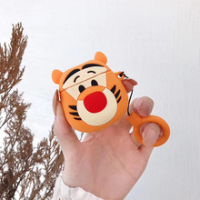 Cute Tiger 3D Cartoon Dog Earphone Protective Cover for Airpods 1 2 Case Wireless Bluetooth Headphones Earpods Protection Cases