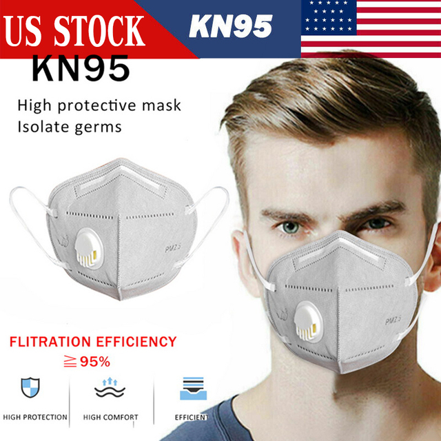 $ US $13.51 KN95 Adult Vertical Folding Nonwoven Valved Dust Mask 2.5 Respirator Mouth Mask With Valve Gauze Haza Mask Anti-virus