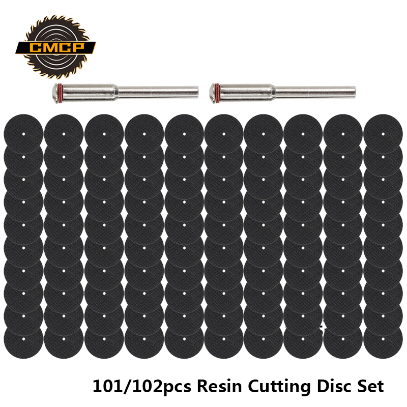 CMCP 101/102pcs Resin Cutting Disc Set With 1/8