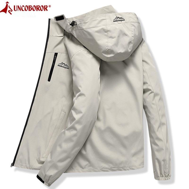 Jacket Men Waterproof Hooded Breathable Casual Jacket Spring Autumn Outwear Windbreaker Tourism Mountain Raincoat Male Clothing