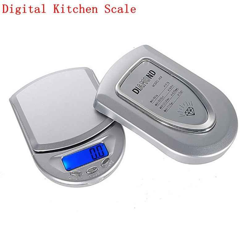 0.01/0.1g LCD rétro-éclairage cuisine balance alimentaire Mini balance numérique poche Portable bijoux balance électronique 500/200/100g capacité