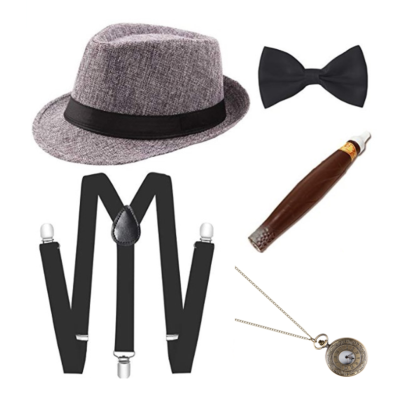 Mens Adult Gangster Peaky Cap Blinders 20s Tommy Shelby Fancy Dress  Accessories