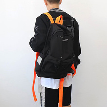 Men Backpack Off Fashion White Women Bags High Quality Large Capacity Student Bag Canvas Casual Travel Street Backpacks Nylon