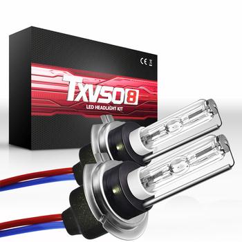 TXVSO8 2020 ksenonowe H7 zestaw HID 35W 55W żarówki reflektorów samochodowych 12V 4300K 5000K 6000K 8000K 10000K 12000K samochodowe reflektory przednie ampułki tanie i dobre opinie 12 v CN (pochodzenie) Rohs 35W 55W each bulb TXVSO8 Super bright H7 7000-9000LM Set IP68 1 Year 360 degree -40 to 105 ° C
