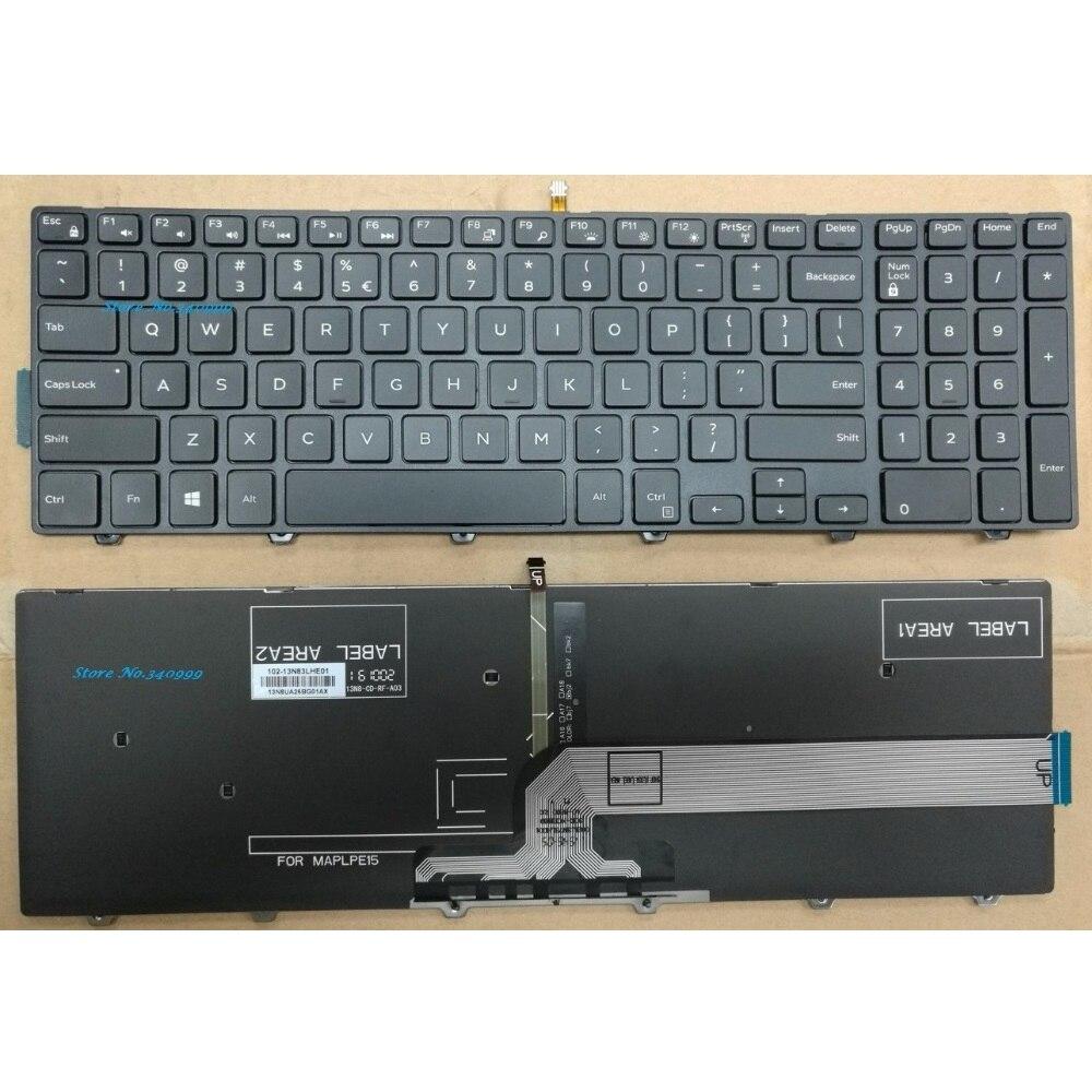 Laptop Mới Backlit Mỹ Bàn Phím Dành Cho Laptop Dell Inspiron 15 5000 3541  3542 3543 3551 3552 3555 3558 3559 7557 7559 0KF8C3 Mỹ Bàn Phím keyboard  for dell keyboard for laptopdell laptop backlit keyboard - AliExpress