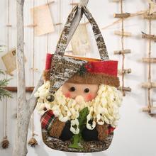 New Year 2020 Christmas Storage Bag Santa Snowman Elk Bear Candy Apple Gift