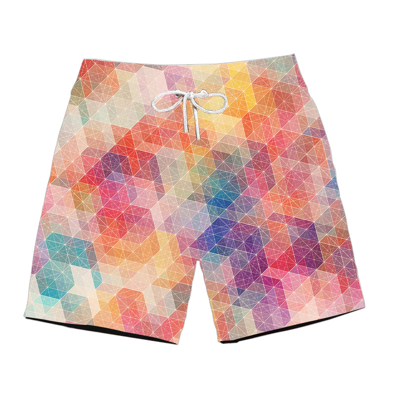 Ouxioaz Boys Swim Trunk Trippy Cat Glasses Beach Board Shorts