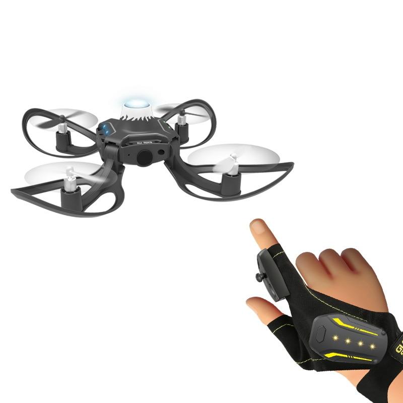 HJ Toys W606-16 Glove Hand Sensor Control Mini Micro Small WIFI FPV RC Drone Quadcopter RTF Remote Helicopter For Children Kids