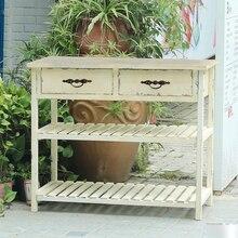 Дом ручной работы потертый шик белый деревянный консольный стол