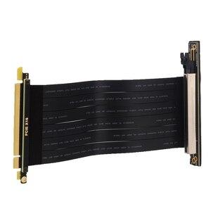 Image 4 - Cable de extensión de elevador inverso PCI E x16 3,0 macho a hembra, tarjeta gráfica, extensor 16x PCI Express, línea de cinta 128G/bps