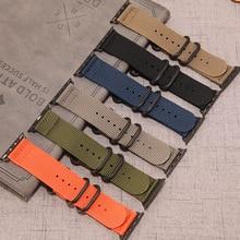 Strap for Apple watch band 44mm 40mm apple watch 5 4 sport nylon bracelet belt watchband iwatch 3 2 1 band 42mm 38mm Accessories цена и фото