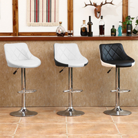 European Modern Stylish Mix Color soft Leather Bar Chairs Lift Adjustable Height Bar Stools Home Furniture Rotated Chair HWC