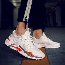 49 Clunky-Shoes Male Sneakers Big-Size Footwear Height Increase Outdoor Fashion Lace-Up