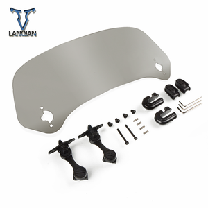 Image 4 - Motorcycle Windshield Adjustable Windscreen Deflector motor Universal for DUCATI Superbike 848 EVO 1199 Panigale R 1299 Panigale