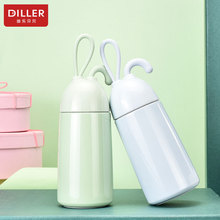DILLER MLH8725 Thermos Double Wall 304L Stainless Steel Vacuum Flasks Thermos Cup Coffee Tea Milk Travel Mug Water Bottle