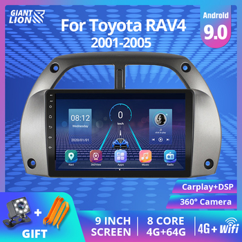 2Din Android 9.0 Car Radio For Toyota RAV4 2001 2002 2003 2004-2005 Car Multimedia Player GPS Navigation 2IDN Car DVD Player image