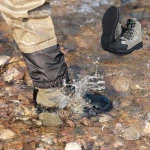 Image 4 - Mannen Ademende Outdoor Waden Laarzen, Sneldrogend En Antislip Vissen Schoenen, Voor Vissen, wandelen En Jacht